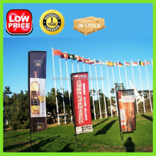 High Quality Telescopic Flag Banner Pole, Cheap Flag Pole