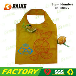 Foldable Cartoon Lemon Fruit And Vegetables Folding Shopping Bag DK-CS079