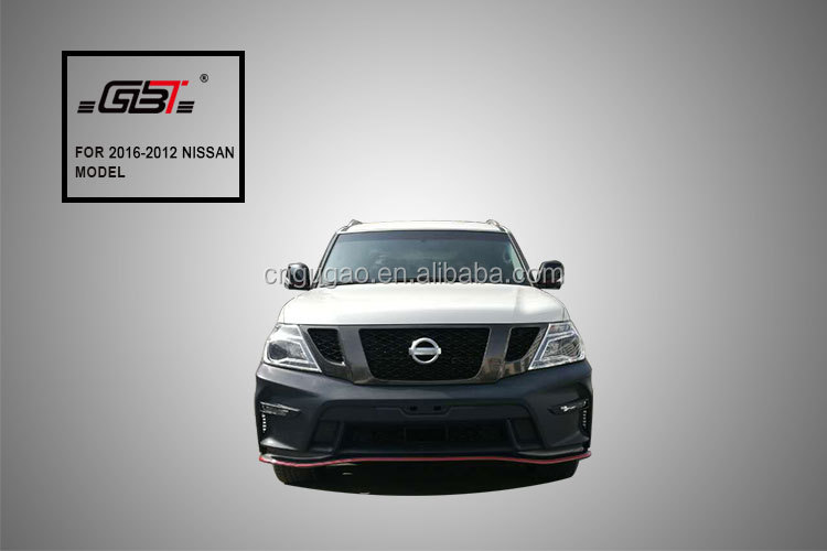 body kit with front rear bumper grille and running boads to upgrade to nismo model for 2012-2016 nissan