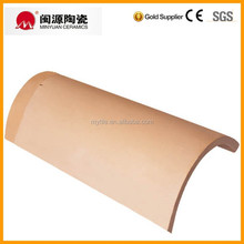 Barrel clay curved ridge roofing tile