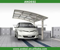 Polycarbonate and aluminum decorative carport