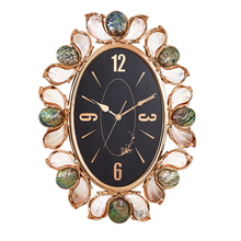 home decoration rose gold natural pearl shell unique old fashion quartz wall clock