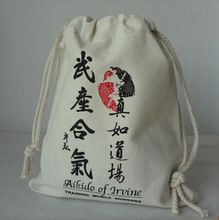 factory audit durable drawstring bag cotton