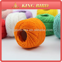 high quality cotton pearl ball thread in paper box