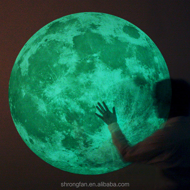 Wall Decor Home Moon Glow In The Dark Point Decal Sticker