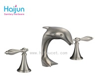 Double handle small dolphin bath faucet