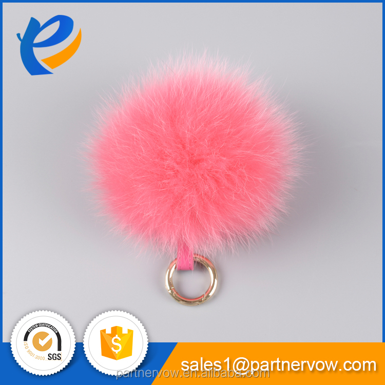 Popular Animal Fur Pom Pom Key Chain