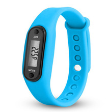 less one dollars running silicone watch fitness pedometer step calorie distance running time reloj sports watch factory supplier