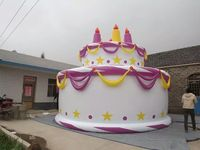 custom cake shaped balloon ,advertising use balloon stand
