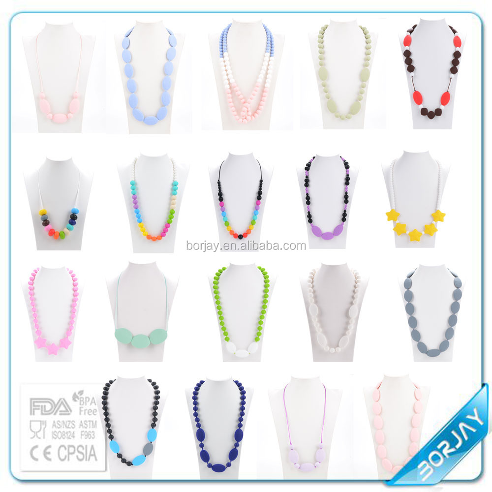 Silicone Teething Necklace for Babies