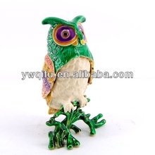 new fashion Owl art craft trinket box gift box item souvenir decoration(QF4219)