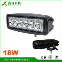 Hot sale high quality 18w working led lights 12v offroad auto small led work light for car