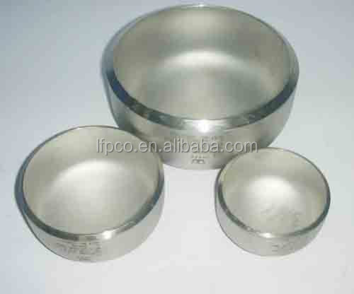 2 stainless fitting 24 inch pipe end cap for steel tube