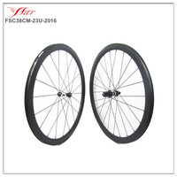 Strong and Stiff Far Sport carbon bicycle wheels 38mm x 23mm clincher road bike racing cycling wheelset DT 350S drop shipping
