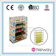 2016 household cleaning goods non-woven simple shoe rack double line modern cheap shoe cabinet