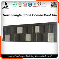 Durable Roofing Tile Material Stone Coated Copper Colored Metal Roof