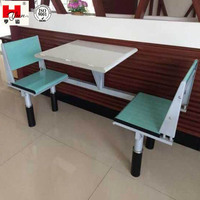 Canteen Double Seat Dining Table with Chairs