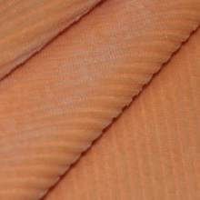China manufacturer 100% polyester low pile orange burnt-out minky fabric with SGS certification