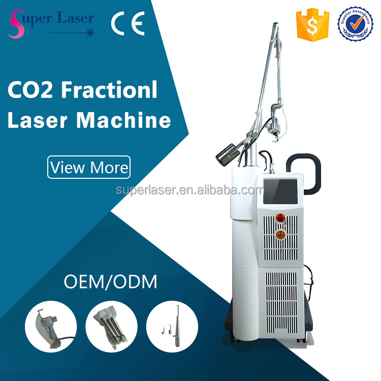 High quality portable rf co2 fractional laser equipment for acne removal