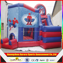 New design spiderman inflatable bouncy castle ,inflatable bouncer with slide