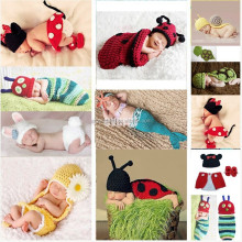 Super Cute Newborn Knit Crochet spiderman cosplay costume