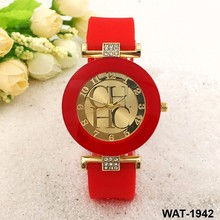 Silicone geneva wrist women dimond crystal jelly sports quartz dressing ladies watches