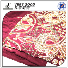 Custom printing viscose rayon embroidery thread fabric for pants