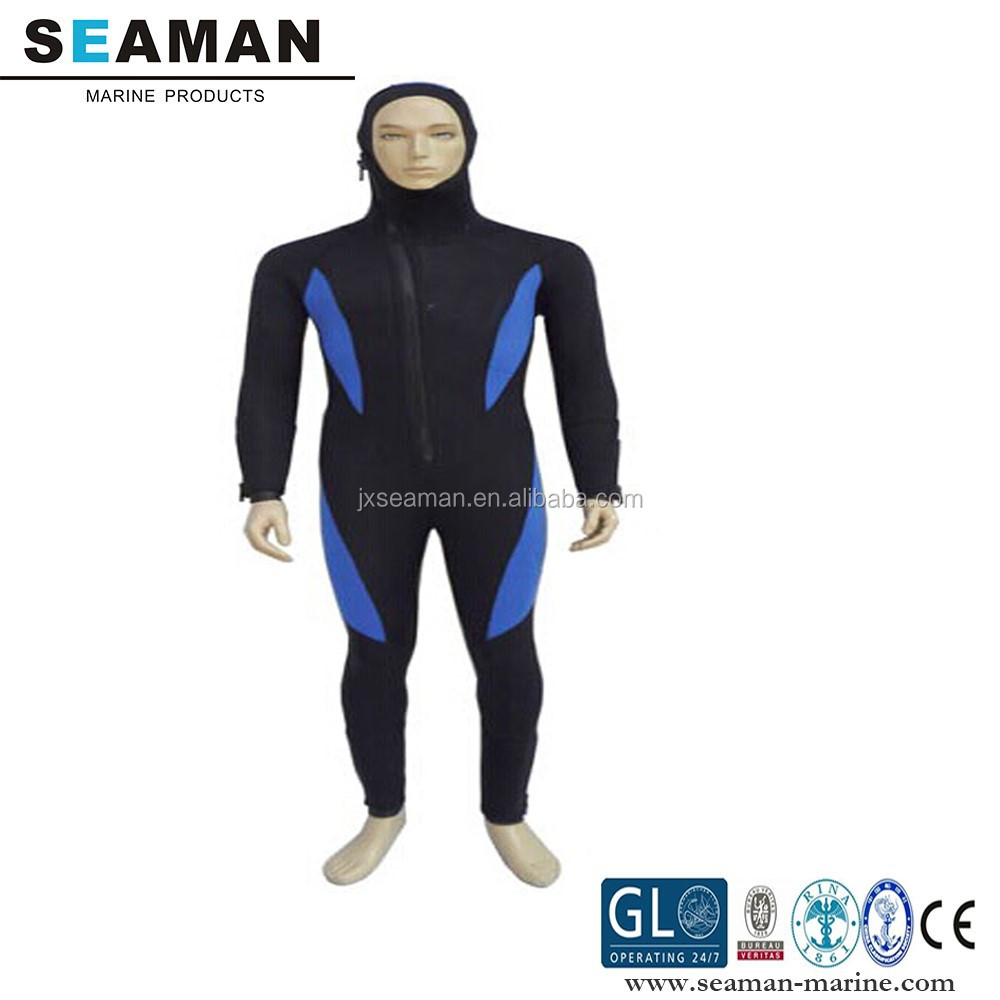 MEN'S 3-7MM 90%Neoprene(SBR) 10%nylon S-XXXXL wetsuit with hood for cold water surfing scuba diving