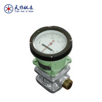 Digital/mechanical low pour fuel oil flow meter
