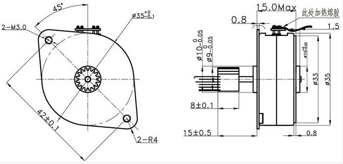 35by212 pm stepper motor dc 24v step motor for pos  printer