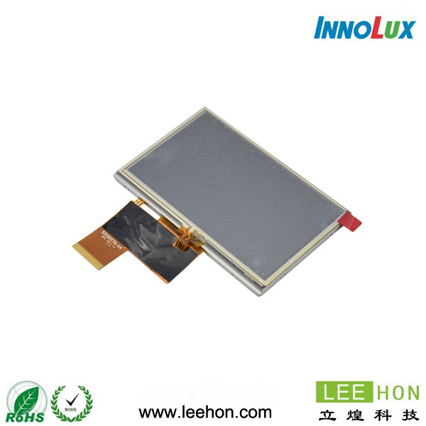 at043tn24 v.7 Innolux 4.3 inch LCD panle with touch screen 480x272