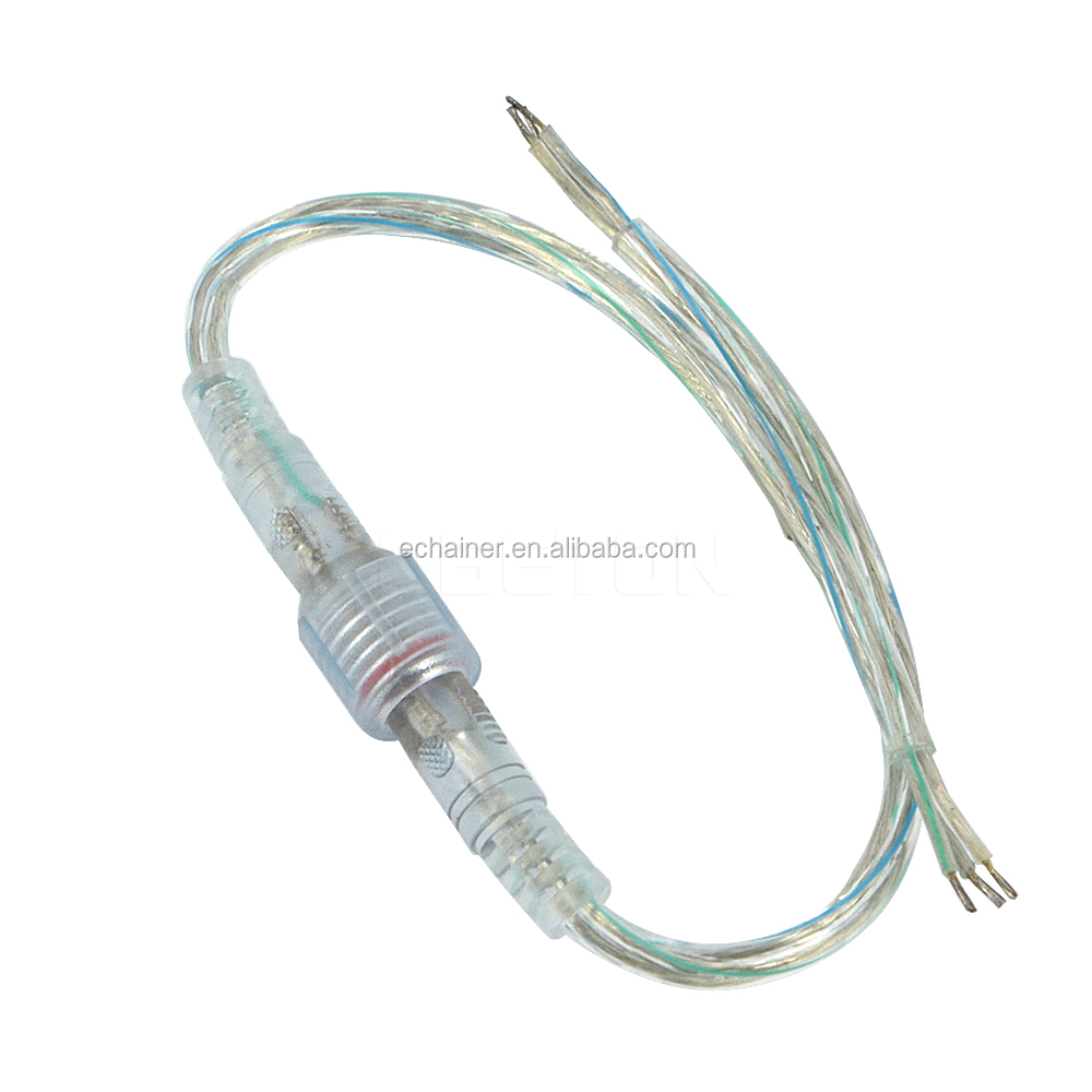 New LED Light Stripes Male Female Plug LED Mini 3 pin X 0.3 (mm2) 3 Pin Waterproof Connector Power Connector Transparent Cable