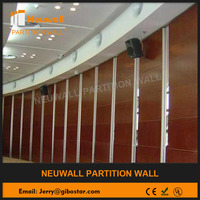 movable partition wall and mobile home wall paneling acoustic folding partition for library, museum