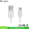 Guoguo 2015 hot sales aluminum housing colorful round sync data micro usb cable for mobile phones