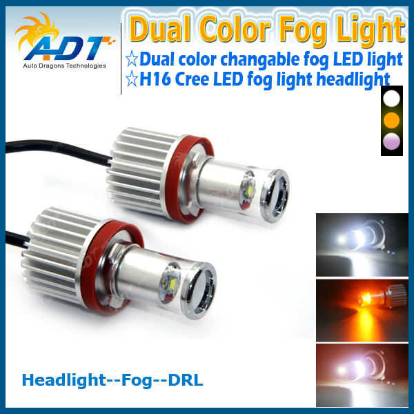 Cr 20W Dual color H16 H11 H8 led fog light for BWM for VW for AUDI brand car