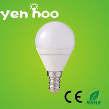 Hot sale Aluminum and PC body E27 base g45 led bulb manufacturing 3w 4w led bulb E14