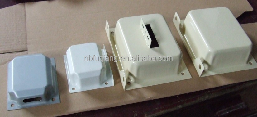FQ-C101 Ningbo Fuqiang metal end bells, metal cover for transformer, transformer accessory for EI-66, EI-75, EI-96, EI-120