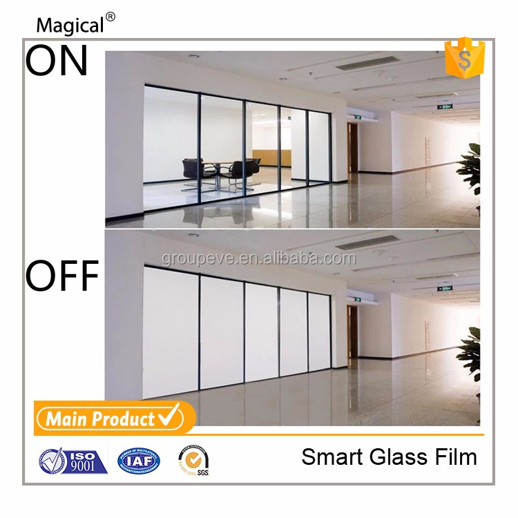 Electronic Window Glass Smart Film Adjustable Tint With Transformer