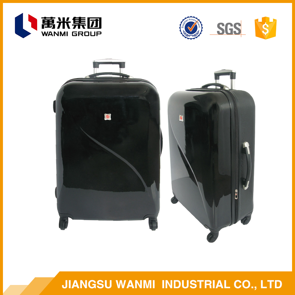 Travel bag ABS polo trolley luggage with retractable wheels
