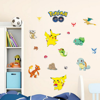 Removable kids room wall decor 3d pokemon decal stickers