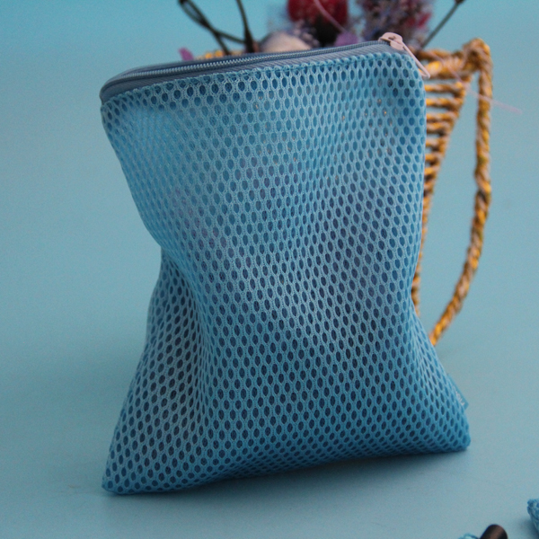 custom color mesh lingerie laundry bag with zipper