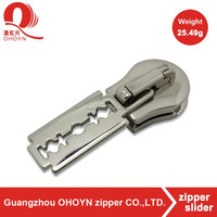Bright zinc alloy custom zipper pull tabs 7.4g