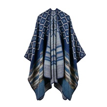 O'YUE- hot selling color scarf traveling cloak high-end women's two-sides to wear shawl NO.20171122