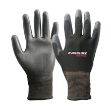 Light weight finger polyester gloves with pu coated
