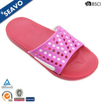 SEAVO 2016 new model pvc upper sexy lady pink eva slippers from china