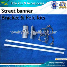 Street banner bracket and pole kits