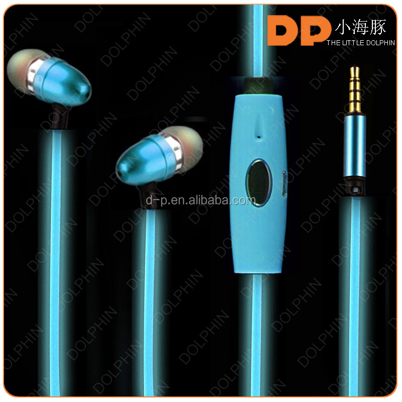 custom led headphone android mobile phone earphone el noise canelling headphone for sony