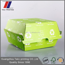 FDA SGS Certification F-Flute Corrugated Hamburger Packaging/Paper hamburger boxes
