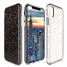 OEM and ODM dropshipping blingbling star high quality TPU and pc hybird protective shockproof phone case for iphone X apple
