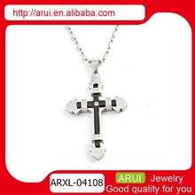 China jewelry supplier wholesale charm jewelry silver cross pendent